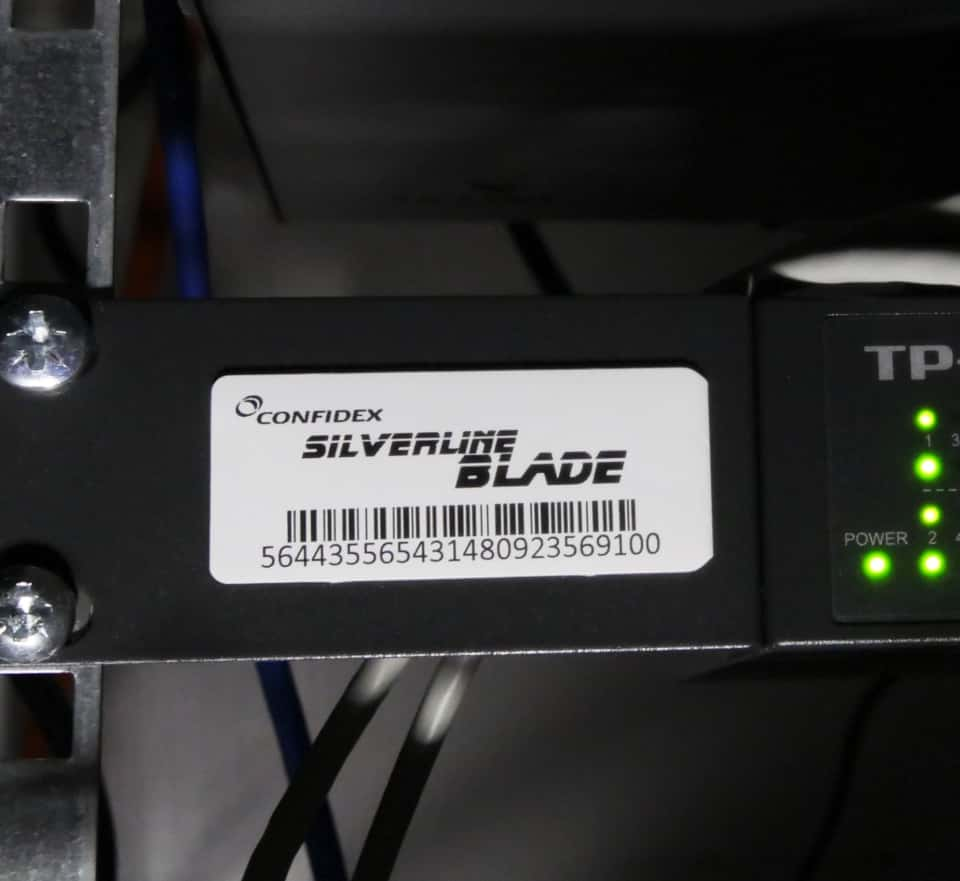 Confidex Silverline Blade™ Label