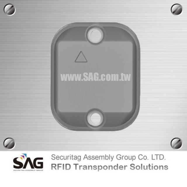 RAIN RFID Overmolded Square Metal Tag-Global