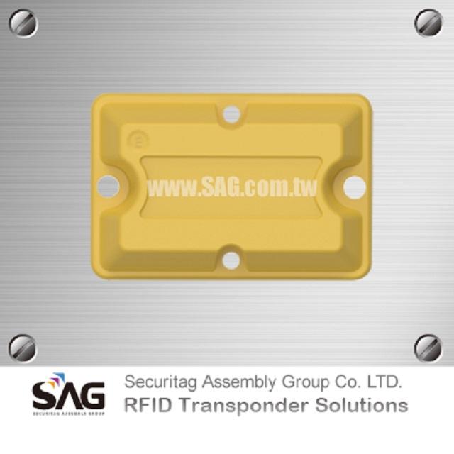 RAIN RFID Overmolded Brick Metal Tag-P