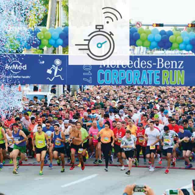 Exact Time Measurement at Running Events with UHF RFID