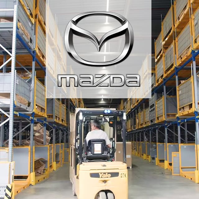 30,000 RFID-tagged RTIs at Mazda MLE