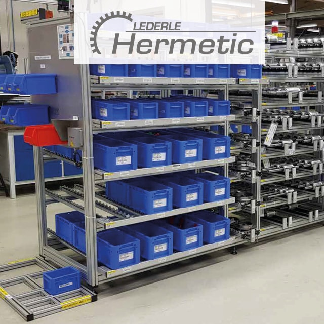 Pump Production at Hermetic with RFID E-Kanban