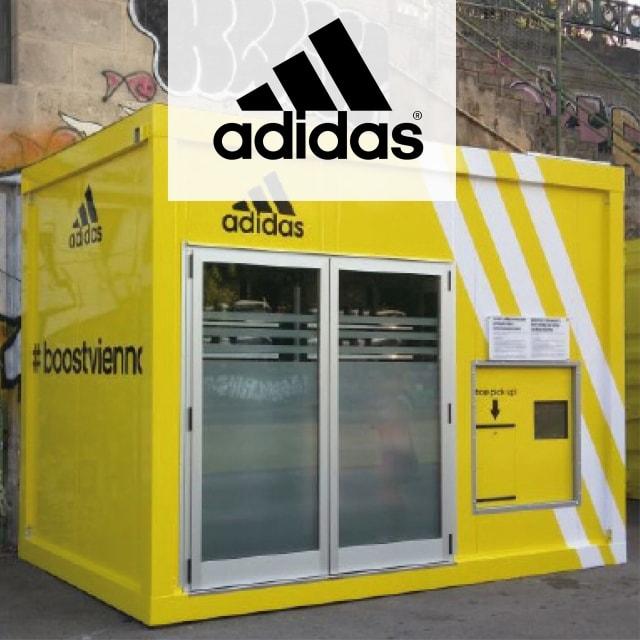 Testschuh-Automat mit RFID für die Adidas-Community