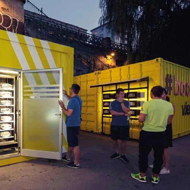 Test Shoe Vending Machine with RFID for the Adidas Community