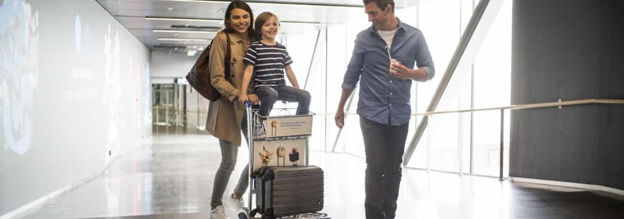RFID provides the foundation for an optimal allocation of baggage trolleys exactly where they are needed right now. (Picture: Finavia)