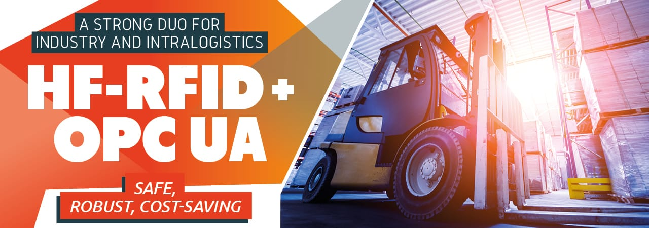 Save Duo for Industry and Intralogistics: HF-RFID + OPC-UA