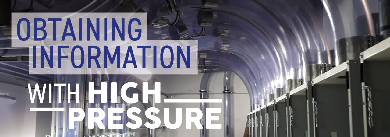 Obtaining Information with High Pressure