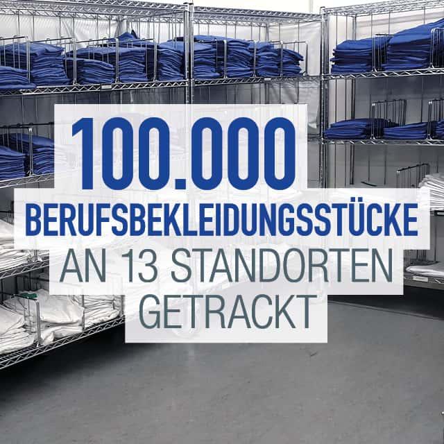 100.000 Berufsbekleidungsstücke an 13 Standorten getrackt