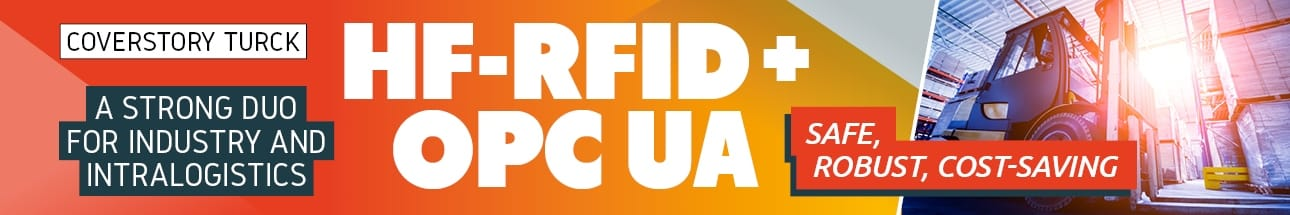 Turck: HF RFID + OPC-UA – Safe, Robust, Cost-Saving