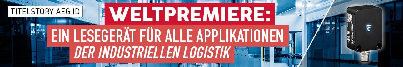 AEG ID: WELTPREMIERE – Ein Lesegerät für alle Applikationen der industriellen Logistik