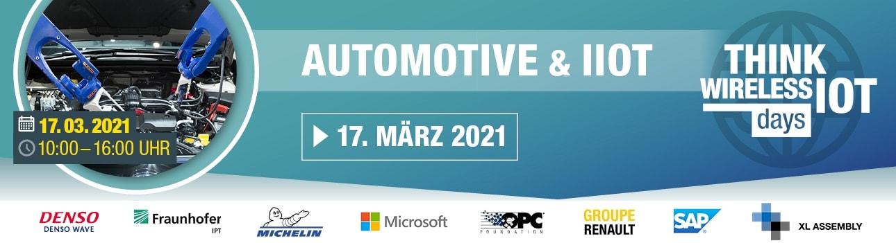 Think Wireless IoT Days 02/2021 - Automotive | Industrie 4.0 | Instandhaltung