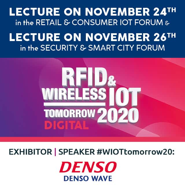 DENSO WAVE: Exhibitor and Speaker at #WIOTtomorrow20 DIGITAL