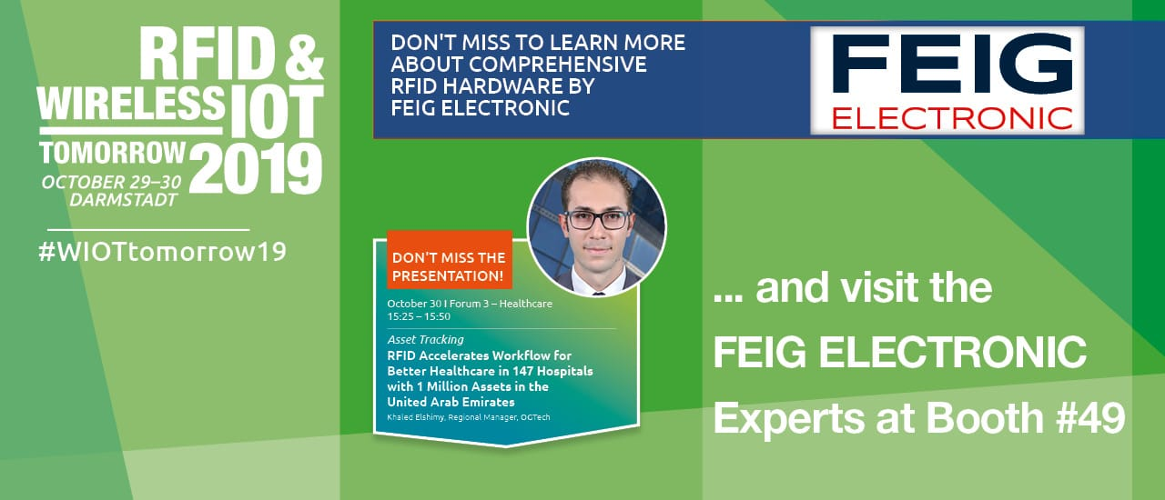 Feig Electronic Sponsors the RFID & Wireless tomorrow 2019!