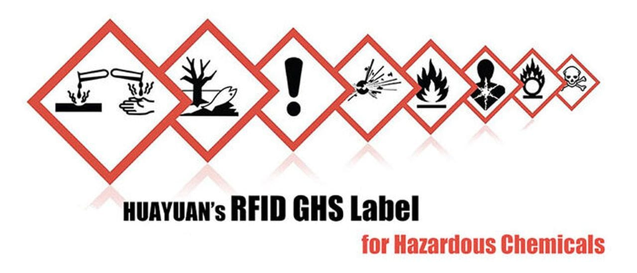 HUAYUAN: New Arrival! RFID GHS Label Tag for Hazardous Chemicals