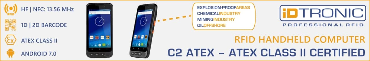 iDTRONIC launches new RFID handheld reader C2 ATEX