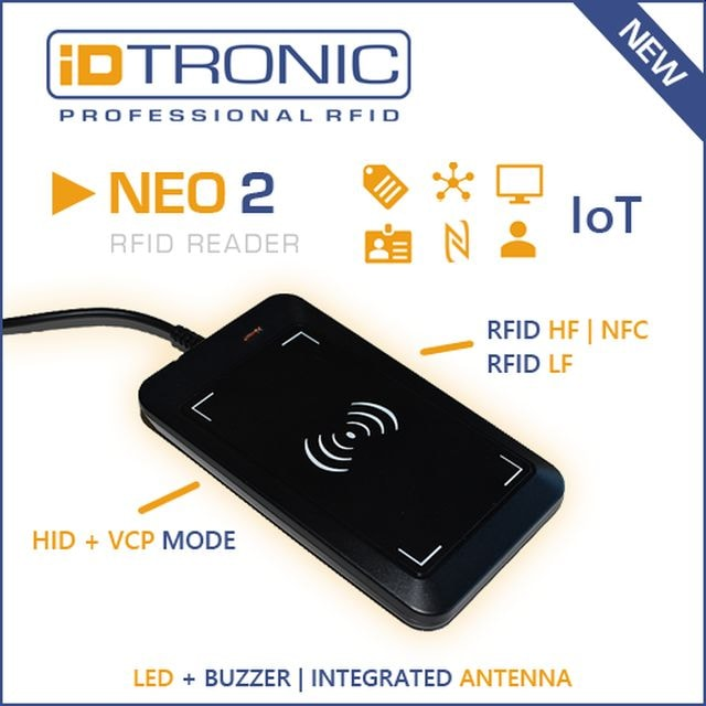 RFID Reader with HID + VCP for IoT Areas