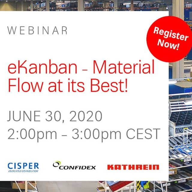 Webinar - June 30, 2020 eKanban - Material Flow at its Best!