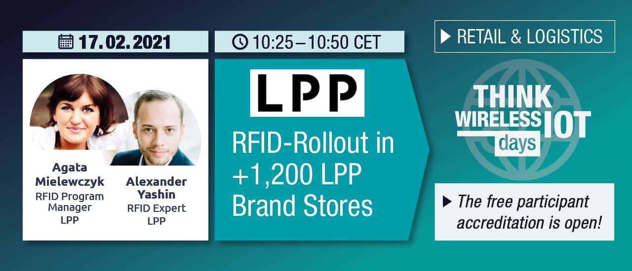 WIOT Day Feb 17th: LPP Presents RFID Rollout in +1,200 Stores