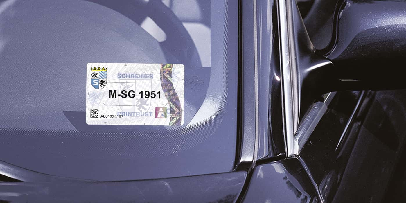 Enhanced data security and communications: The ((rfid))-Windshield Label Global Secure is now available as a new and particularly economical version with an NXP UCODE DNA City chip