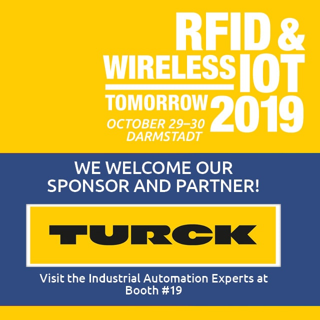 Turck Sponsors the RFID & Wireless IoT tomorrow 2019!