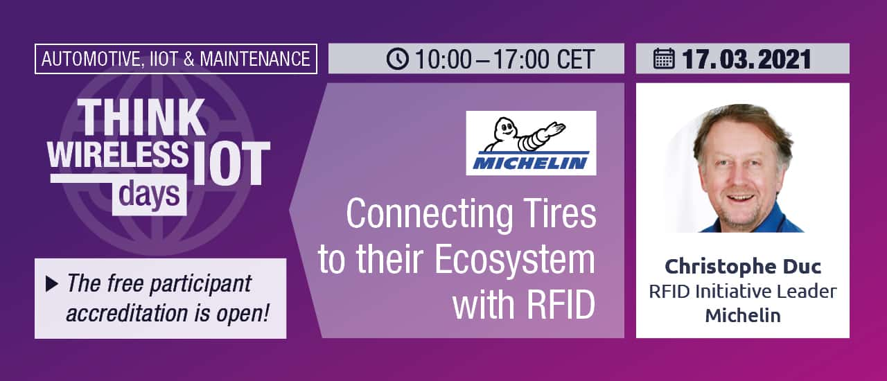 Connecting Tires to their Ecosystem with RFID – Michelin at WIOT Day