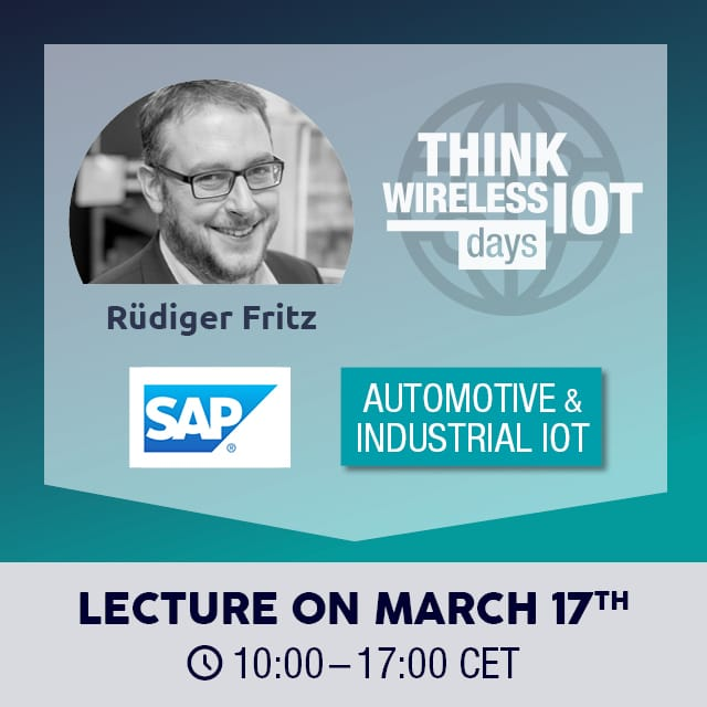 Tools for Digital Manufacturing from SAP at the WIOT Day