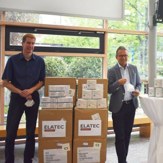 Elatec Donates Face Masks for Disaster Control Department and Retirement Home