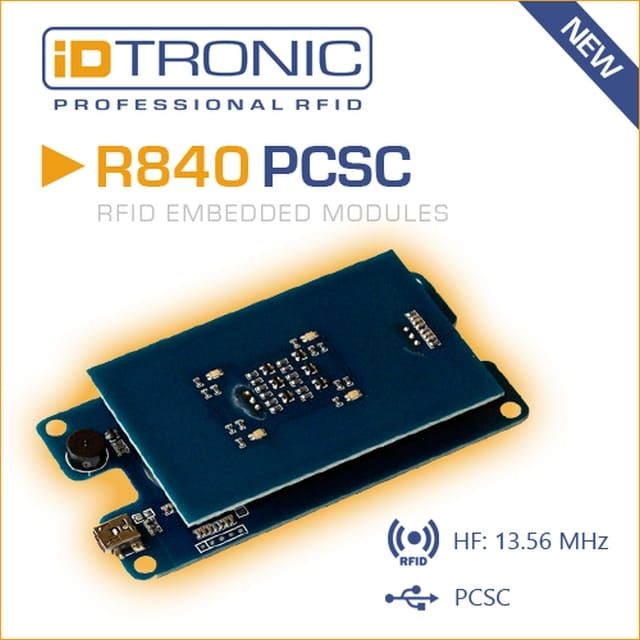 iDTRONIC extends embedded HF MIFARE RFID Reader R840