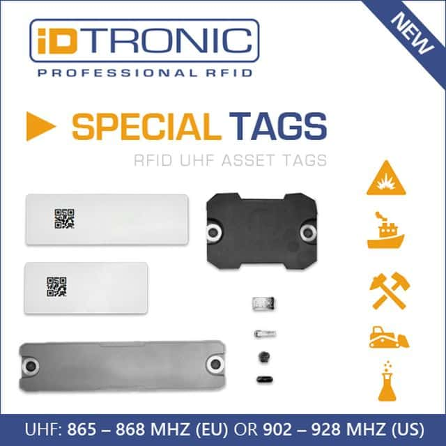 iDTRONIC's RFID On-Metal Asset Tags