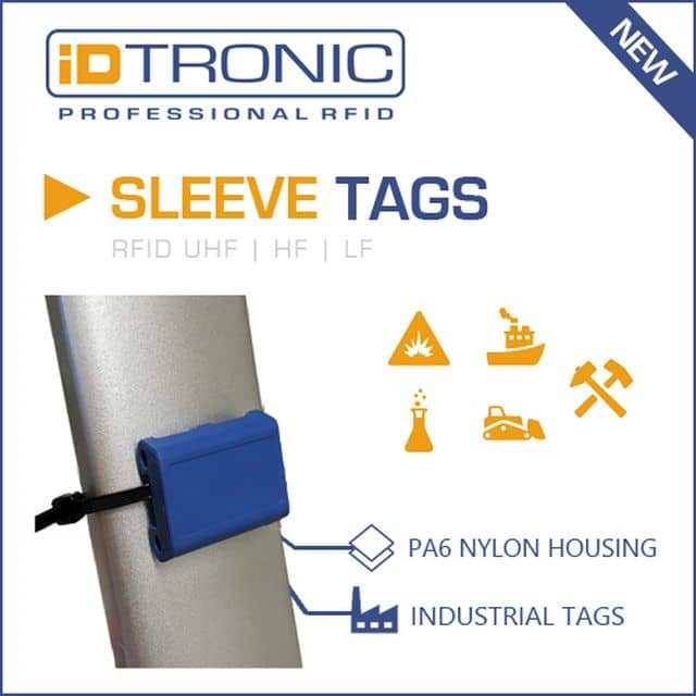 iDTRONIC's Industrial Tags: RFID Sleeve Tags