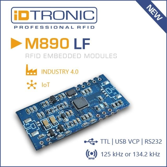 iDTRONIC Presents Embedded LF Modules M890 & M900