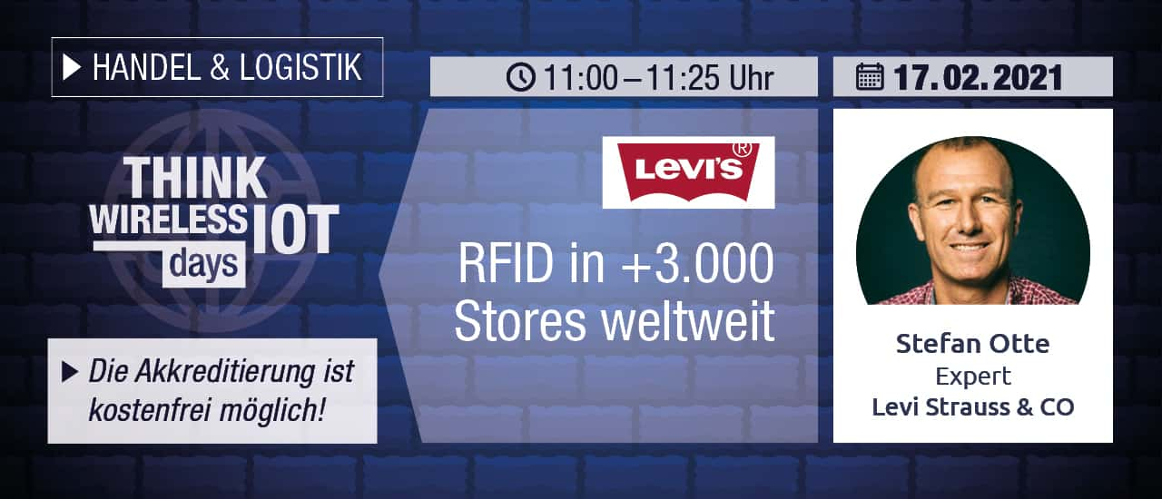 Levi's RFID-Rollout auf dem Think WIOT Day am 17. Feb