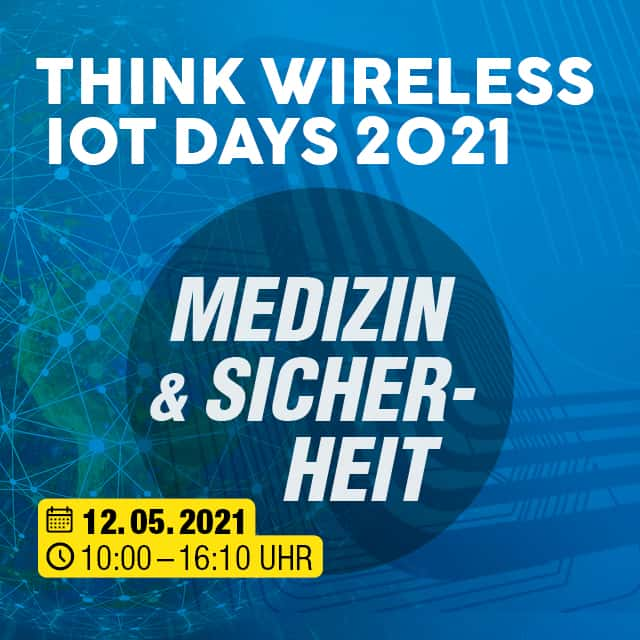 "Think WIOT Day: ""Wireless-IoT-Lösungen in der Medizin"" am 12. Mai"