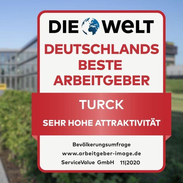 Turck Awarded in 'Germany's Best Employer'